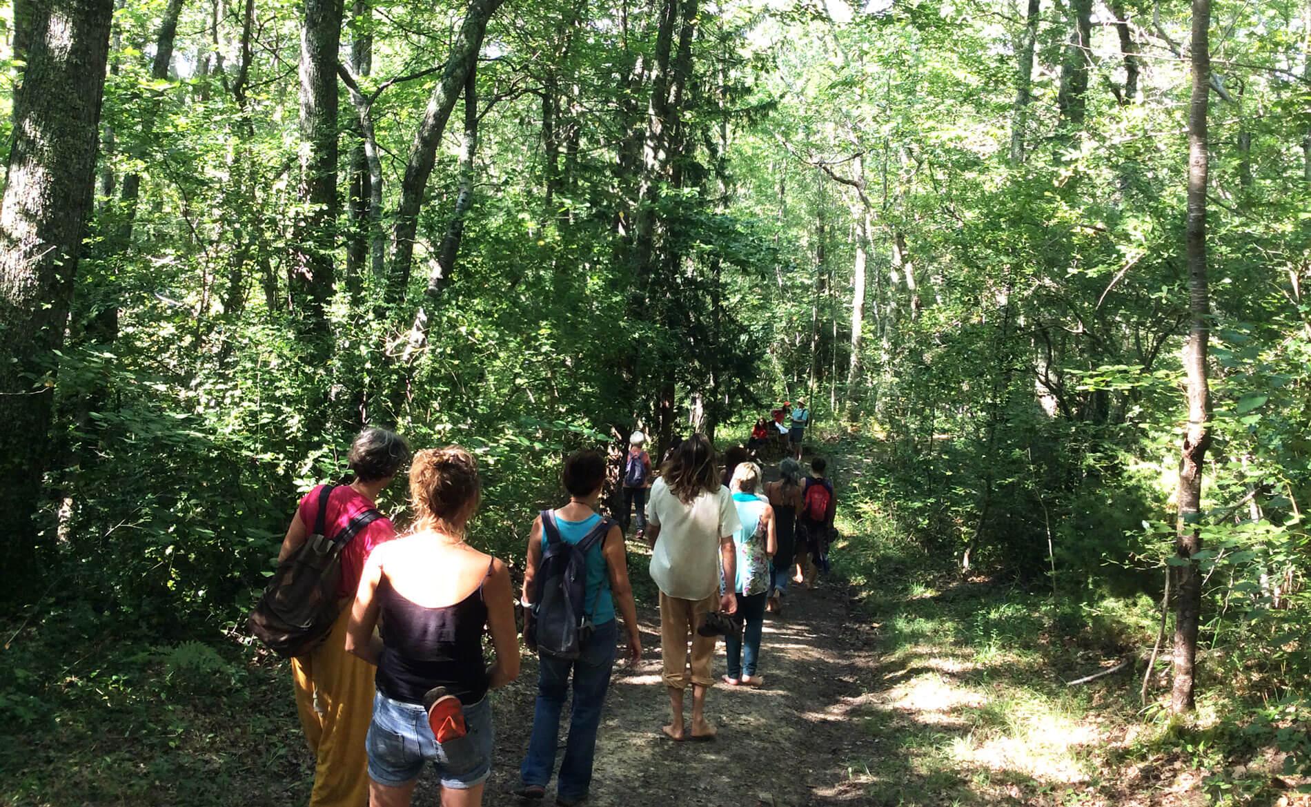 Marche en pleine conscience lors de la retraite silencieuse à Montbrun Bocage à 1h de Toulouse